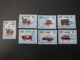 Stamps Of The World: Cambodia Cambodge (8 - Carriages Transportation ) - Cambodge