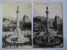 LOT DE 2 CPA MARSEILLE ANNEES 10. LA FONTAINE CANTINI. ANIMEES - Monuments