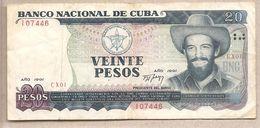 Cuba  - Banconota Circolata Da 20 Pesos P-110a - 1991 - Cuba