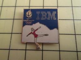 Pin410c Pin's Pins / Rare Et De Belle Qualité / INFORMATIQUE : IBM PATINAGE ARTISTIQUE ALBERTVILLE 1992 - Computers