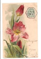 Illustrateur - KLEIN - Tulippes, Carte Gauffrée - Klein, Catharina