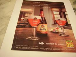 PUBLICITE AFFICHE BIERE LEFFE RUBY - Alcools