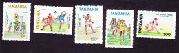 Tanzania, Scott #749-753, Mint Hinged, All Africa Games, Issued 1991 - Tansania (1964-...)