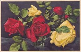 BOUQUET ROSES ROSAS FLORES FLOWERS FLEURES. CIRCULEE TO DERBY. ENGLAND-TBE-BLEUP - Bloemen