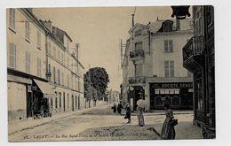 LAGNY (77) - LA RUE SAINT DENIS ET LA SOCIETE GENERALE - Lagny Sur Marne