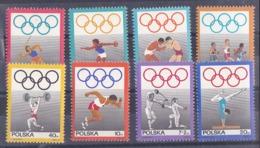 Pologne Jeux Olympique De Mexico 1969 Série De 8 Tp Y&T  N° 1758 / 65 MNH ** Départ 50 % - Zomer 1968: Mexico-City