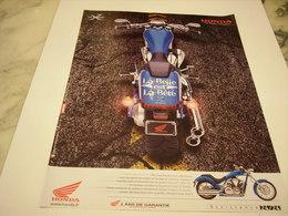 PUBLICITE AFFICHE MOTO HONDA VT 1300 C - Motos
