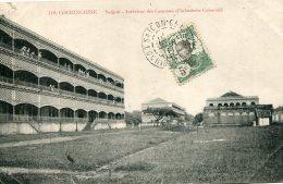 VIETNAM - Cochinchine Saigon Interior Des Casernes D'Infanerie Coloniale - VG Stamp & Postmark  1911 - Vietnam