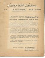 Ancien Document. Sporting Club Aubinois. M. Viart Augustin, Aubigny-en-Artois. - Sports & Tourisme