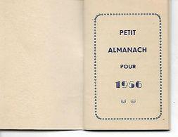 Petit Almanach Année 1956. Publicité Maison Adam Strasbourg. - Calendriers