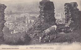 Pont à Mousson (Meurthe Et Moselle) A Travers Les Ruines (vache) - Pont A Mousson