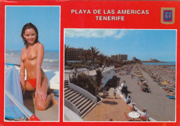 PLAYA De Las Americas (Tenerife), Oben Ohne Mädchen, Gelaufen - Tenerife