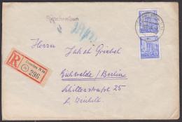 Dresden 5jahrplan I  DDR 374 35 Pf Berlin Sporthalle Stalinallee Auf Einschreiben - [6] República Democrática