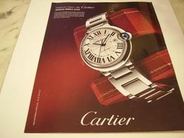 PUBLICITE AFFICHE MONTRE BALLON BLEU DE CARTIER - Autres