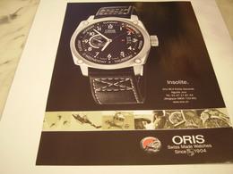 PUBLICITE AFFICHE MONTRE ORIS - Bijoux & Horlogerie