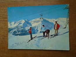 """Suisse , Arrivée Du Téléférique à Cry D'err , Le Rawyl Et Le Glacier Du Wildhorn """" Carte Animée Skieurs Et Cabine """" - VS Valais"""