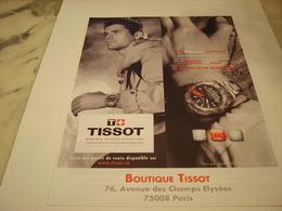 PUBLICITE AFFICHE MONTRE TISSOT 2009 - Autres