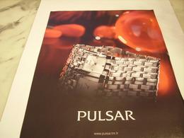 PUBLICITE AFFICHE MONTRE PULSAR - Jewels & Clocks
