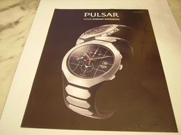 PUBLICITE AFFICHE MONTRE PULSAR - Bijoux & Horlogerie