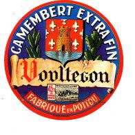 R 277 / ETIQUETTE DE FROMAGE - CAMEMBERT  VONLTEGON  45 % FAB. EN POITOU - Fromage