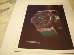 PUBLICITE AFFICHE MONTRE HUBLOT - Bijoux & Horlogerie