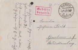 DR Karte Gebühr Bezahlt Hagen 4.9.23 - Deutschland