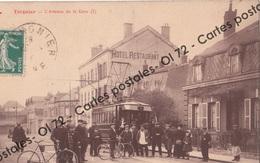 CPA - Aisne > Tergnier - L'avenue De La Gare (I) Animée - Tramway - Unclassified
