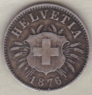 Suisse. 5 Rappen 1876 B . KM# 5 .Rare - Suisse