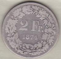 Suisse . 2 Francs 1874 . En Argent - Schweiz