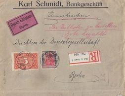 DR R-Eilbote-Brief Mif Minr.193,174 Hof - Deutschland