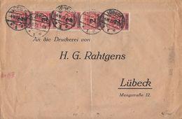 DR Ortsbrief Mif Minr.5x 309A, 30x 314 Lübeck 4.11.23 - Deutschland