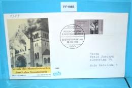 FF1985 FDC 50. Jahrestag Der Reichskristallnacht, Reichspogromnacht, DE 1988 - BRD