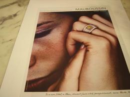 PUBLICITE AFFICHE JOAILLIER MAUBOUSSIN - Jewels & Clocks