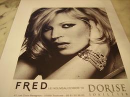 PUBLICITE AFFICHE JOAILLIER DORISE - Jewels & Clocks