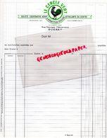 23- GUERET - FACTURE LE CERCLE VERT - STE COOPERATIVE REPARTITIONS EPICIERS -RUE GEORGES CLEMENCEAU- COQ - Agriculture