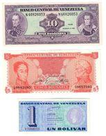 Venezuela Lot 3 UNC Banknotes .C. - Venezuela