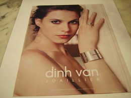 PUBLICITE AFFICHE JOAILLIER DINH VAN - Jewels & Clocks
