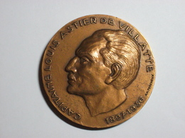 Médaille Capitaine Louis Astier De Villatte - Cinquantenaire 1986 - Graveur A.H. Torcheux - Bronze - Armée Parachutiste - Professionnels / De Société