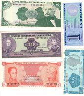 Venezuela Lot 5 UNC/UNC- Banknotes .C. - Venezuela