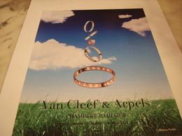 PUBLICITE AFFICHE JOAILLIER VAN CLEEF & ARPELS - Bijoux & Horlogerie