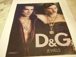 PUBLICITE AFFICHE JOAILLIER DOLCE GABBANA - Jewels & Clocks