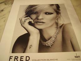 PUBLICITE AFFICHE JOAILLIER FRED - Jewels & Clocks