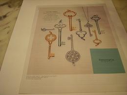 PUBLICITE AFFICHE BIJOUX TIFFANY - Jewels & Clocks