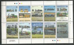 GRENADA GRENADINES - MNH - Transport - Trains - History - Treni