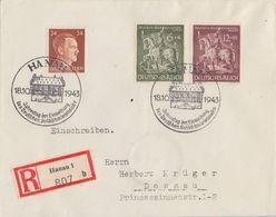 DR R-Brief Mif Minr.792,860,861 SST Hanau 18.10.43 - Covers & Documents