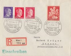 DR R-Brief Mif Minr.785,788,827,859 SST Wien-Messepalast 20.1.44 - Deutschland