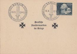 DR Sonderkarte EF Minr.812 Plf.V Muttermal Auf Der Wange SST Berlin 15.3.42 - Deutschland