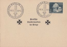 DR Sonderkarte EF Minr.812 Plf.V Muttermal Auf Der Wange SST Berlin 15.3.42 - Briefe U. Dokumente