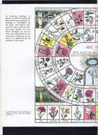 """1960 Publicité Laboratoires  / Jeu De Société (genre De L'Oie) / """" Jeu Instructif Des Fleurs """" - Jeux De Société"""