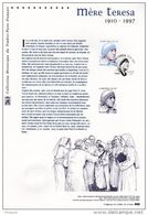 """"""" MERE TERESA """" Sur Document Philatélique Officiel 1°Jour De 2010. N° YT 4455. DPO (Prix à La Poste = 5 €) - 2010-...."""